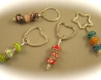 SALE, CLEARANCE, European Bead Key Chains