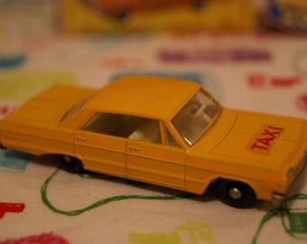 Vintage Lensey Matchbox Chevrolet mpala Taxi with Original Box