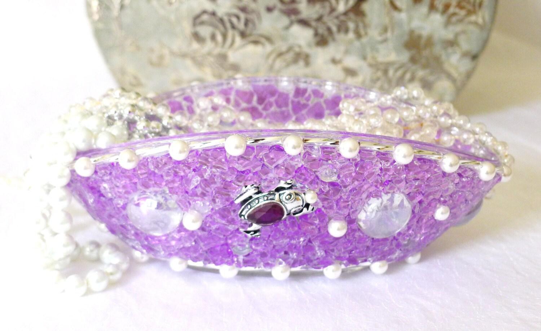 Bathroom Accessories Purple Lavender Lilac : Mothers day jewelry dish bathroom accessories purple by lonasart