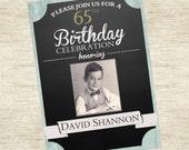 Milestone Vintage Birthday Invitation