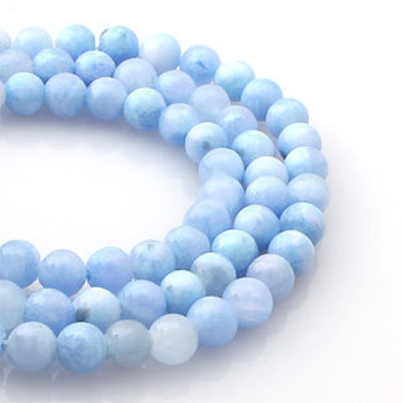 Light Purple Marble : Mm light blue purple colored jade round ball stone pcs