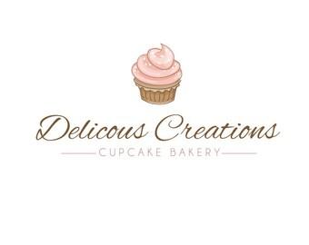 Pre-made Logo Design - Bakery Logo - Logo Template - Watermark Design - Photography Logo - Ready Made Logo - Cupcake Logo 422