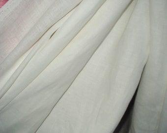 White Linen Flax Fabric Cloth Super Wide 87 inch Light Weight ECO-friendly - Custom Yardage