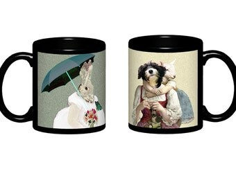 Mug with black or white background - This item includes two photos