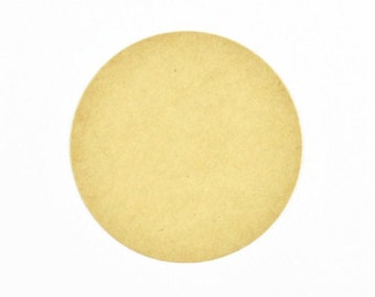 KRAFT DOT STICKERS (Set of 45) - Blank Round Kraft Sticker Set (3.5cm diameter)