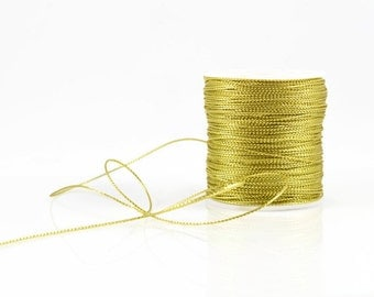 1mm GOLD METALLIC STRING - Gold Metallic String Cord (1mm diameter) sold by 5m length