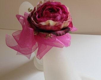 Perfect pink rose wrist corsage