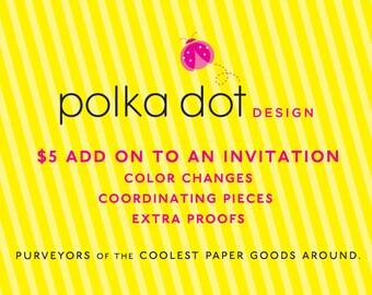 Polka Dot Design Add On