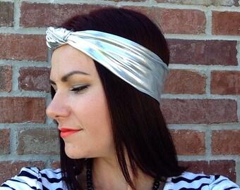 Silver Knot Headband OR Fabric Head Wrap