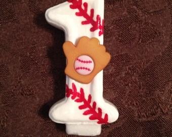Baseball Birthday Candle