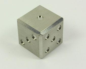Stainless steel dice - metal 6 sided die (single)