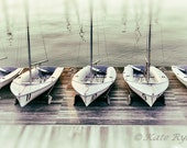 Sailboat Wall Art, Photograph, 3 Options: Black&White, Green, Gold, Coastal, Nautical Art, Beach House Art, Chesapeake Bay, Maryland Photo