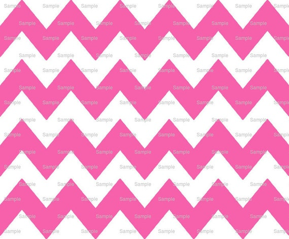 Hot Pink - Chevron Background Birthday - Edible Cake and Cupcake Topper For Birthday's and Parties! - D9824