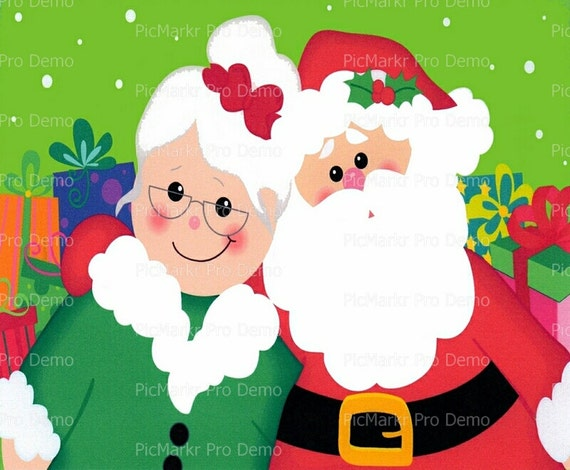 Christmas Santa and Mrs. Claus - Edible Cake and Cupcake Topper For Birthday's and Parties! - D2805