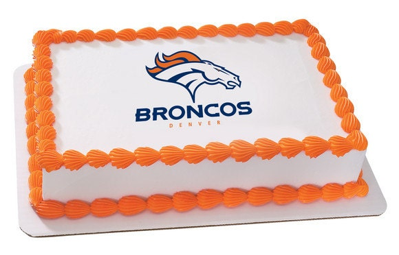 Edible Cake Images Football : Denver Broncos NFL Football Edible Cake and by ArtofEricGunty