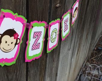 Mod Monkey Happy Birthday Banner - Mod Monkey theme - Mod Monkey banner - Mod Monkey Birthday - Mod Monkey Birthday banner
