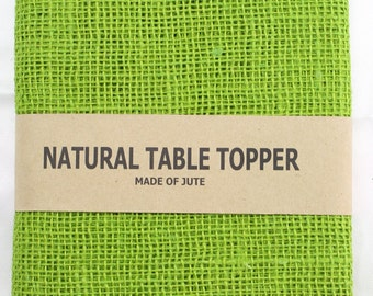 "Apple Green Burlap Table Runner 24"" x 108"" , rustic, country, weddings, finish edges, great for home decor. In other colors (BH-L60)"
