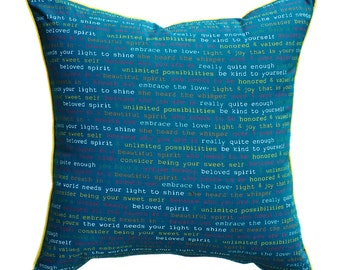 Blue Cushion Cover. Pillow Cover.