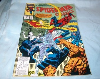 Vintage Marvel Comic Book, Guest Starring Fantastic Four,  Spiderman Classics #2 May 1993