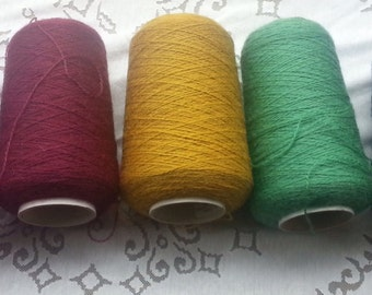 Mohair knitting yarn/wool - cones approx 400g each