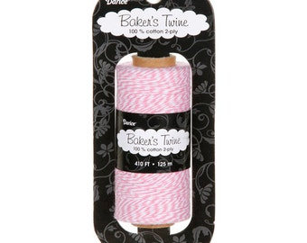 410 ft of Pink and White Bakers Twine for Scrapbooking or Card Making paper crafting crafts decorative