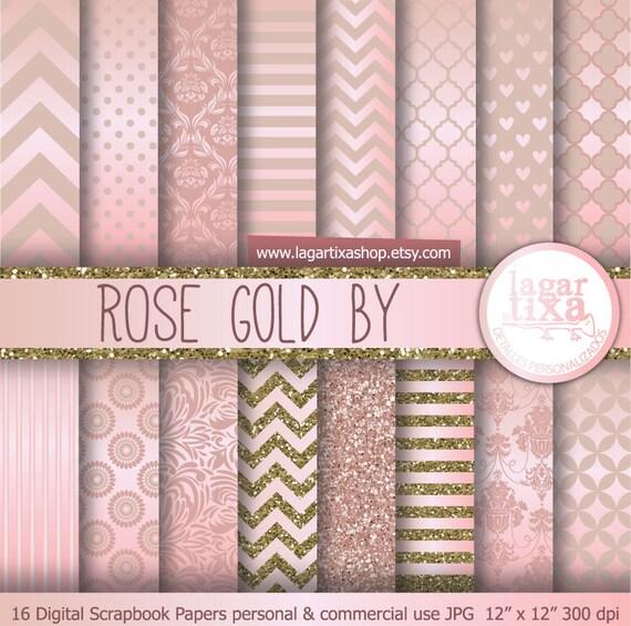Rose Gold Background Rose Gold Antique Gold Digital