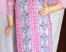 Spring summer Sale Pink tunic dress for her plus size clothing womens dresses embroidery lounging caftan tunic top cotton clearance sale