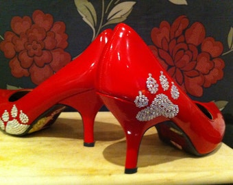 Hand Painted Little Red Riding Hood Heels