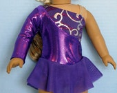 Purple Ice Skating Dress for an American Girl Size Doll