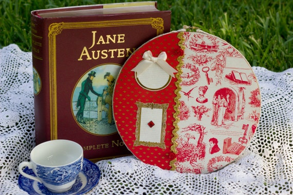 Jane Austen Hoop Wall Decor