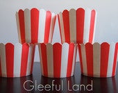 Baking Cup - 25 Stripe <Red+White> *Cupcake Wrappers*Muffin Cup*Weddings*Baby Showers*Bridal Shower*Birthday*Party*