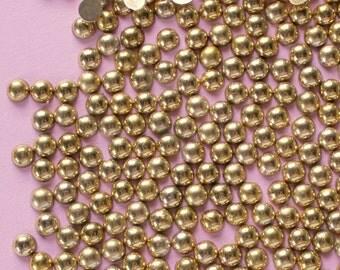 200 Pcs 5mm Gold Metallic Flatback Pearls