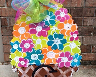 Flower Basket Door Hanger