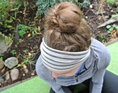 Wide Stretchy Yoga Headband (Fitness, Exercise, Running, and Fashion Too!) - Custom Size for Tight, Perfect Fit - Natural Stripes + Melon