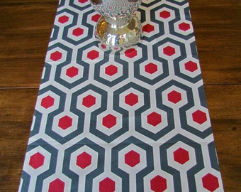 RED TABLE RUNNER 13 x 72  Red Table Runners Christmas Decorative Wedding Holiday Grey Table Runner Housewares Home decor Home and Living