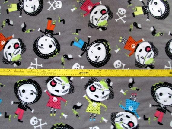 Zombie Fleece Fabric Bty Rare Vhtf