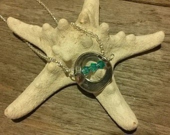 Sterling Silver Necklace with Silver Circle Pendant and Swarvoski Crystals