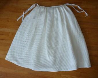 "CUSTOM 18th Century Hand-Sewn ""Mock Quilted"" Marseilles/Matelasse Petticoat ~ white or cream ~ Colonial Rev War Reenacting Costume (CL-PQ1)"