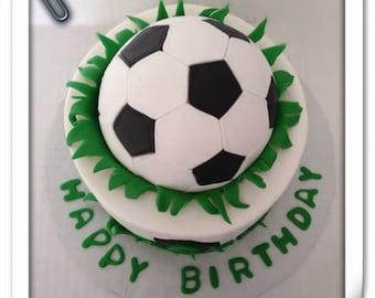 Soccer ball cake topper