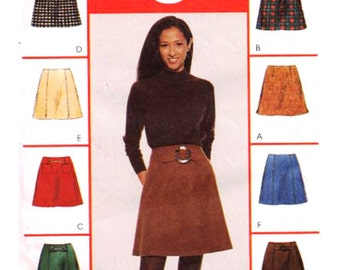McCall's Sewing Pattern 8915 Misses' Skirt and Belt  Size:  C  10-12-14  Uncut
