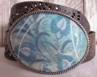 turquoise belt buckle bohemian belt buckle gypsy belt buckle boho chic belt buckle cottage chic belt buckle floral resin belt buckle