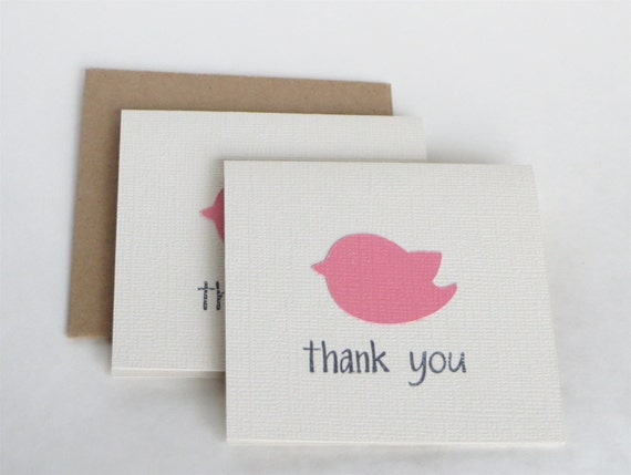 set girl baby shower thank you notes bird baby shower thank yous