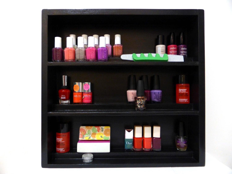 black nail polish rack storage wall hanging display. Black Bedroom Furniture Sets. Home Design Ideas