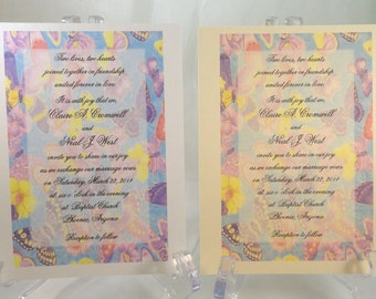 50 BUTTERFLY Invitations for Weddings or any Occasion Customized for You
