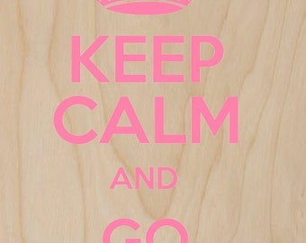 Keep Calm and Go Shopping - Plywood Wood Print Poster Wall Art WP - DF - 0355