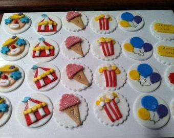 Edible Carnival / Circus Cupcake Toppers