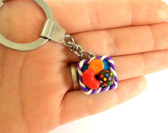 Candy Crush Key chain, game key chain, polymer candy key ring, egst