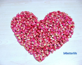 365pcs of Medium Size 3D Origami Hearts All In RED Color. (RS paper series).