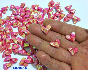 100pcs Red Color Mini Size 3D Origami Hearts LOVE. (TX paper series). #FOH-137