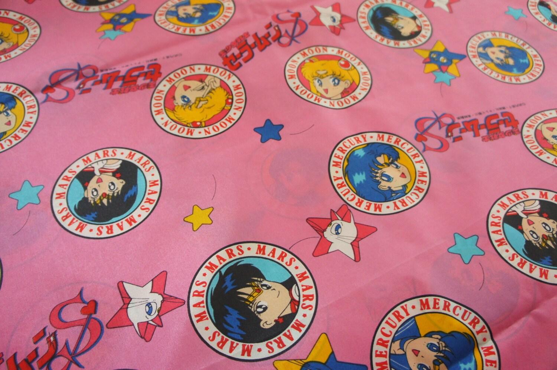 Sale Sailor Moon Fabric 50cm Half Yard Nylon Light Weight
